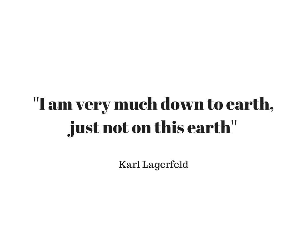''I am very much down to earthjust not on this earth''