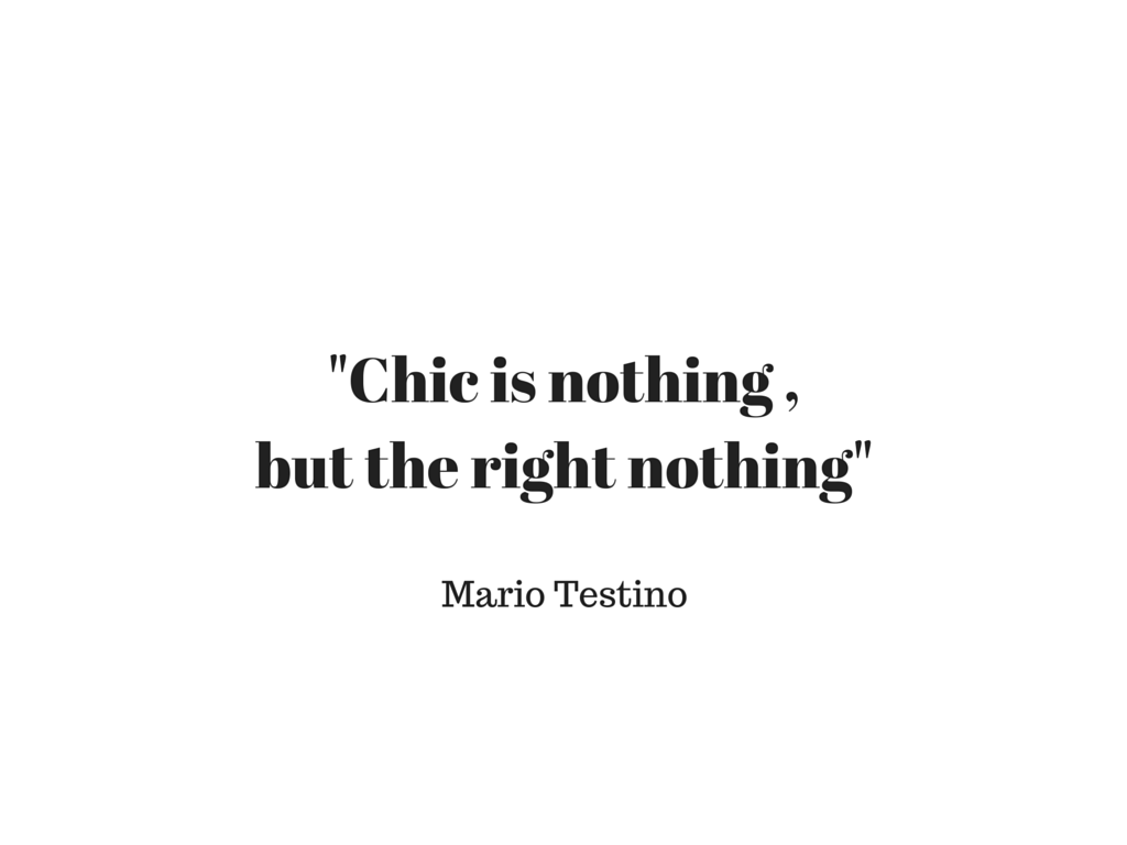 -Chic is nothing ,but the right nothing